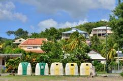 马提尼克岛, Le美丽如画的城市diamant在印度西部 免版税库存照片