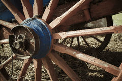 马支架轮子 库存照片