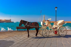 马支架,老港口,干尼亚州,克利特,希腊 图库摄影