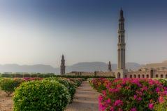 马斯喀特盛大清真寺和它的加尔省几何秀丽  图库摄影