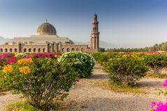 马斯喀特盛大清真寺和它的加尔省几何秀丽  库存照片