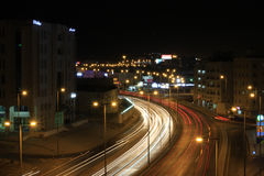 马斯喀特路在晚上 免版税库存照片
