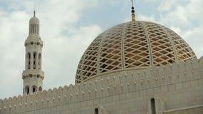 马斯喀特,阿曼, 2014年1月8日:马斯喀特清真大寺的圆顶  库存照片