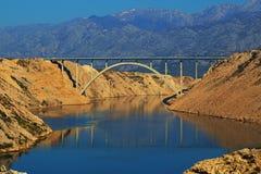 马斯莱尼察桥梁(A1) 库存照片