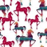 马无缝的样式。 免版税图库摄影
