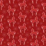 马无缝的样式。 图库摄影