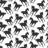 马无缝的样式1 免版税库存图片