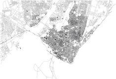 马普托,地图城市,莫桑比克街道  闹事 皇族释放例证