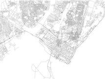马普托,地图城市,莫桑比克街道  闹事 向量例证