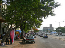马普托,莫桑比克- 2008年12月11日:Mozambiqu的首都 库存照片
