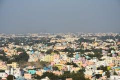 马杜赖市五颜六色的看法  免版税库存图片