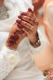 马来的传统婚礼。 免版税图库摄影