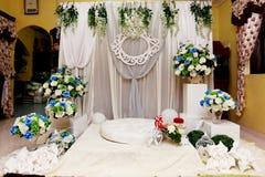 马来的婚礼法坛 库存图片