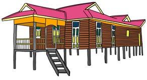 马来的房子 库存例证