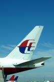 马来西亚人波音777尾巴  免版税库存照片