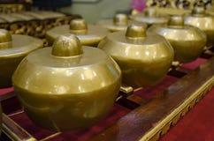 马来西亚传统乐器叫Gamelan 免版税库存图片