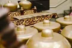 马来西亚传统乐器叫Gamelan 免版税库存照片