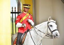 马来西亚全国宫殿护卫 免版税图库摄影
