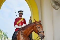 马来西亚全国宫殿护卫 免版税库存图片