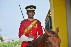 马来西亚全国宫殿护卫 库存照片