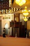 马来西亚全国清真寺Masjid Negara亦称内部  免版税库存照片