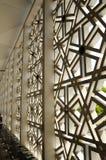 马来西亚全国清真寺Masjid Negara亦称外在墙壁  图库摄影