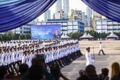 马来西亚军校学生审查员 库存图片
