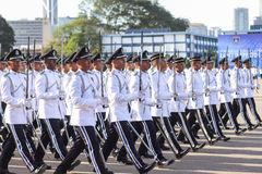 马来西亚军校学生审查员 免版税库存照片