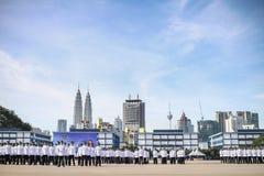 马来西亚军校学生审查员 库存照片