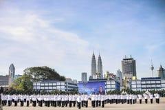 马来西亚军校学生审查员 免版税库存图片
