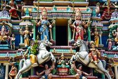 马来西亚印度寺庙细节 库存照片