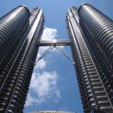 马来西亚塔孪生 免版税库存图片