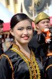 年轻马来西亚女孩微笑 库存图片