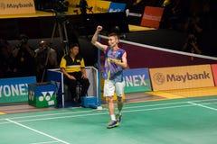 马来西亚开放羽毛球冠军2014年 免版税库存照片