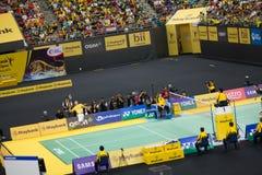 马来西亚开放羽毛球冠军2013年 库存照片