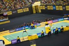 马来西亚开放羽毛球冠军2013年 图库摄影