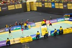 马来西亚开放羽毛球冠军2013年 库存图片