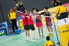 马来西亚开放羽毛球冠军2013年 免版税图库摄影