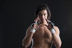 马来西亚拳击手战斗 免版税图库摄影