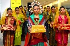 马来西亚文化成套装备 免版税库存照片