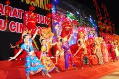 马来西亚文化表现 免版税库存照片