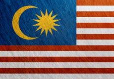 马来西亚旗子葡萄酒,减速火箭,被抓 库存图片