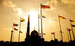 马来西亚清真寺putra 免版税库存图片