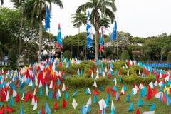 马来西亚的五颜六色的微型旗子 免版税库存图片