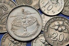 马来西亚的硬币 库存照片