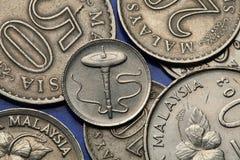 马来西亚的硬币 免版税库存照片