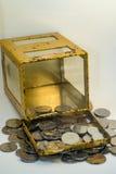 马来西亚硬币的银和金子颜色 图库摄影