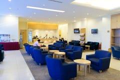 马来西亚航空公司休息室内部 免版税库存图片