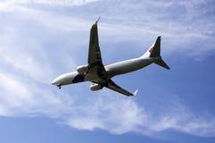 马来西亚航空公司准备好登陆 免版税库存图片