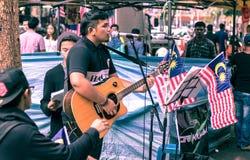 马来西亚街道歌手 库存图片